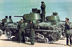 Fiat-Ansaldo M13/40 tanks of the VII Battaglione, 32 Reggimento Carri, Ariete Armored Division just before the Axis advance on El-Agheila. After the Italian Tenth Army was destroyed in Operation Compass (December 8, 1940-March 21, 1941) General Erwin Rommel and the units known as the Afrika Korps were sent to North Africa.