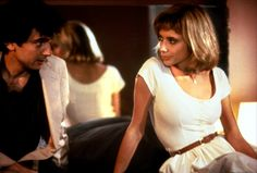 "Paul Hackett (Griffin Dunne): ""Boy, I'm sorry. I guess I've really been runnin' you through the mill tonight."" // Marcy (Rosanna Arquette): ""It's okay, I'm used to it."" -- from After Hours (1985) directed by Martin Scorsese"