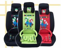 LEW LISTING - Super Mario Car Seat Covers Cushion Accessories Set 18PCS