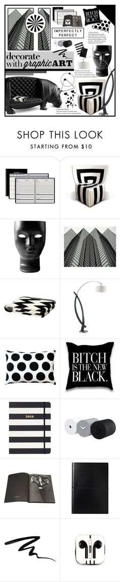 """Decorate w/ Graphic Art"" by happilyjynxed ❤ liked on Polyvore featuring interior, interiors, interior design, home, home decor, interior decorating, House of Doolittle, Driade, ferm LIVING and in2green"