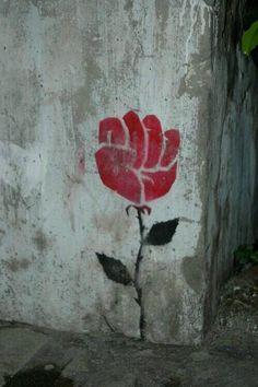 Street Art from Vigan City, Philippines Feminist Tattoo, Feminist Art, Feminist Quotes, Metal Tattoo, Plant Drawing, Rose Tattoos, Art Plastique, Black Art, Flower Power
