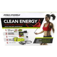 Pro-Form Clean Energy For Pure Power 30-Day Total-Body Makeover Kit >>> Click on the image for additional details. (This is an affiliate link) #VitaminsDietarySupplements