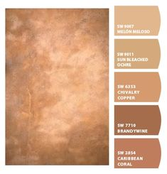 Instantly turn any picture into a palette with ColorSnap, created for you by Sherwin-Williams. Exterior Paint Colors, Paint Colors For Home, Copper Paint Colors, Faux Painting, House Painting, Wall Colors, House Colors, Colours, Tuscan Style