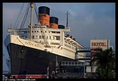 The Queen Mary Cruise Ship in Long Beach, Ca.