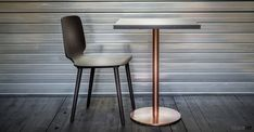 Curved plywood seat with solid ash legs in grey and black stained ash plus natural ash. Wood Cafe, Cafe Furniture, Grey Stain, Black Stains, Cafe Chairs, Cafe Bar, Plywood, Bar Stools, Ash
