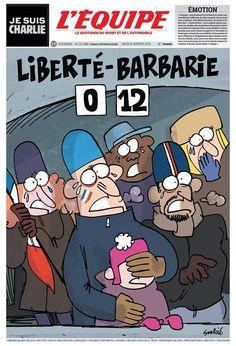 La Une de @lequipe de demain #CharlieHebdo