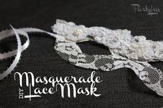 PARTYLISS: DIY Lace Masquerade Mask