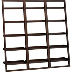 Sloane Java 25.5 Leaning Bookcase Set of Three in Bookcases, Towers | Crate and Barrel