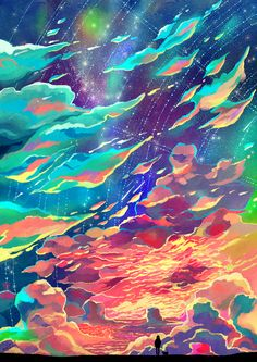 "caringwong: ""Burning Clouds http://caring201.deviantart.com/art/Burning-Clouds-503839616 """