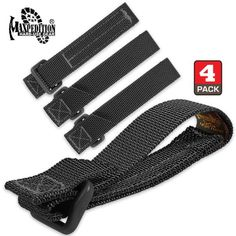 2ab79ff373f Maxpedition 3-Inch TacTile - Pack Of 4 (Black) Maxpedition Discount Travel
