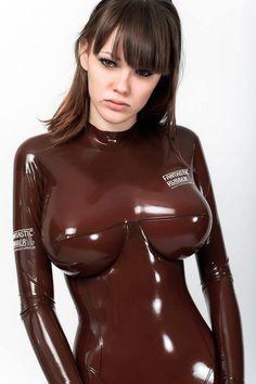 girlsinrubber latex catsuit babe alexandra potter via girlsinrubber