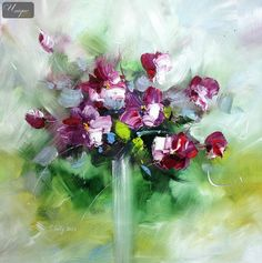 abstract flowers in a vase - Google Search