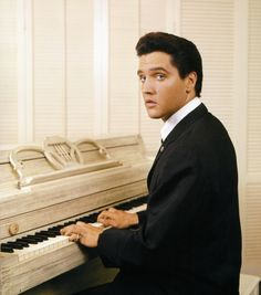"""RCA photoshoot, August, 1960. This is cover of his first gospel album. """"How Great Thou Art.""""  I grew up hearing this album just as much as the rest of Elvis' music."""