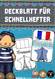 Deckblatt (Schnellhefter): Französisch – Unterrichtsmaterial im Fach Französisch Teaching French, Family Guy, Fictional Characters, Author, Teaching French Immersion, Teaching Materials, Ceilings, Guys, Kids