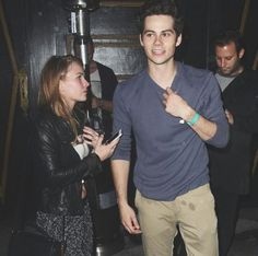Dylan O'Brien with his girlfriend Britt Robertson