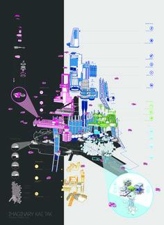 006_Imaginary Kai Tak, exploded axometric kit of parts, CAVE architecture design studio
