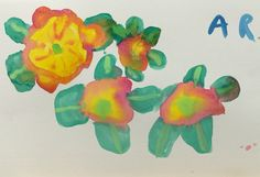 Annabelle's flowers painted from life in watercolour