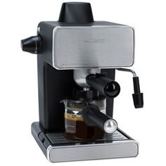 This 4 cup espresso maker makes it easy to enjoy 1 to 4 cups of delicious espresso, cappuccino or latte. The powerful Milk Frothing Nozzel and Frothing Aid helps steam milk to perfection. Mr. Coffee, Coffee, Espresso