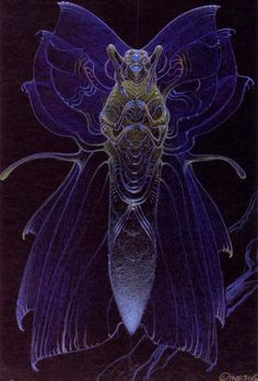 Moebius alien designs for The Abyss | via Gary Blonder