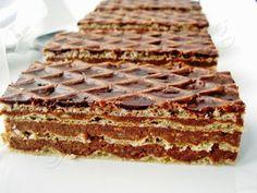 Pastry Recipes, Cake Recipes, Dessert Recipes, Cooking Recipes, Romanian Desserts, Romanian Food, Nougat Recipe, Delicious Desserts, Yummy Food