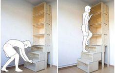 階段になる本棚 上の本も楽にとれる?