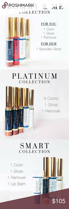 Lipstick LipSense is unlike any conventional lipstick, stain or color. As the original long-lasting lip color, it is waterproof, does not kiss-off, smear-off, rub-off or budge-off! Create your own color palette by combining colors from over 50 shades. Black Friday deals coming soon! Prices vary from $55 to $105. Free gifts, the more you buy the more you get! Lipsense Makeup Lipstick