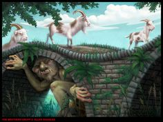Three billy goats gruff - Allen Douglas Absolutely loved this story as a child, terrified me.