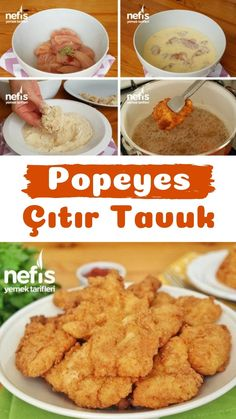 Popeyes Çıtır Tavuk Tarifi (videolu) – Nefis Yemek Tarifleri – Tavuk tarifleri – Las recetas más prácticas y fáciles East Dessert Recipes, Crispy Chicken Recipes, Quick Vegan Meals, Best Breakfast Recipes, Food Goals, Turkish Recipes, Georgian Cuisine, Yummy Food, Yummy Recipes