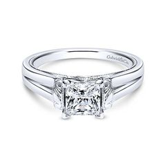 Voted #1 most preferred fine jewelry brand. Platinum Princess Cut Solitaire Engagement Ring