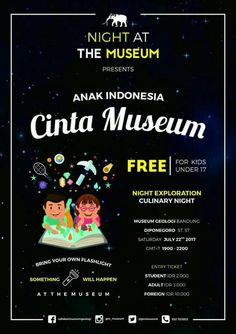 #night #museum #anakindonesia #cintamuseum #anak #indonesia #cinta #free #kids #under17 #night #exploration #nightexploration #culinary #culinarynight #geologi #bandung #museumgeologibandung #diponegoro #saturday #22july2017 #student #adult #foreign #flashlight