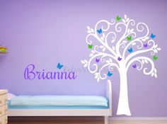 Personalized Butterfly Wall Decal Butterfly by KatiesVinylDecor