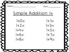 FREEBIE!!! SIMPLE ADDITION WORKSHEETS - TeachersPayTeachers.com