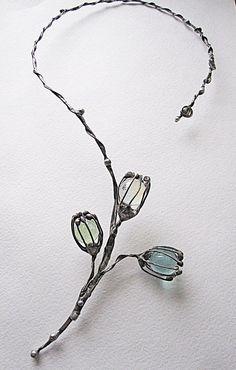 Tiffany necklace elegant necklace delicate by MaryBulanova