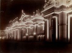 Palace of Electricity, night view.