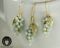 Amazonite Grapes Earrings and Pendant Set by PrincessTreeCraft Gorgeous!!!