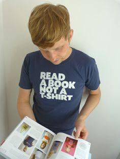 Read a book not a T-Shirt Organic Mens T-Shirt von ilovemixtapes auf DaWanda.com