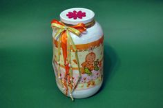 Borcan decorativ ptr botez (45 LEI la pia792001.breslo.ro) Decorative Bottles, Lei