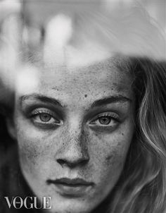 PhotoVogue freckless girl portrait natural