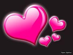 Fondo gris con corazones rosas