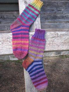 Hand made by Aino P. Socks, Hands, Handmade, Fashion, Moda, Hand Made, Fashion Styles, Sock, Stockings