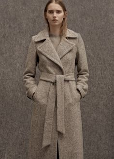 Premium - long wool coat - Coats for Women MANGO Long Winter Coats, Long Wool Coat, Winter Jackets Women, Coats For Women, Outfit Stile, Mode Mantel, Langer Mantel, Stylish Coat, Sweatshirts