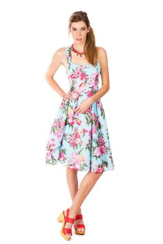 Donna Morgan Women's Sleeveless Printed Twill Longer-Length Fit-and-Flare Dress, Flux Multi, 16 Floral Occasion Dresses, Floral Prom Dresses, Wrap Dress Floral, Women's Dresses, Fit And Flare, Fit Flare Dress, Scarlett Dresses, Spring Summer, The Dress