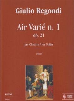Regondi, Giulio. Air Varié n. 1, op. 21 : for guitar.
