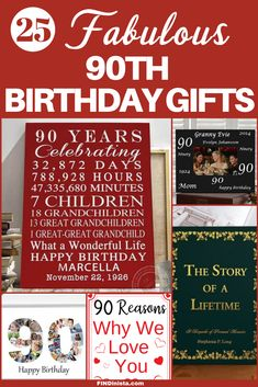 90th Birthday Gift Ideas Gifts For 90 Year Olds