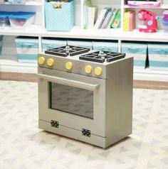 Ana White | Retro Wood Toy Pretend Play Kitchen Dish Hutch - DIY Projects