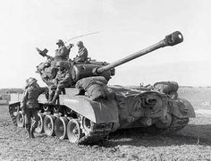 M26 Pershing heavy American tank and crew. #USArmor