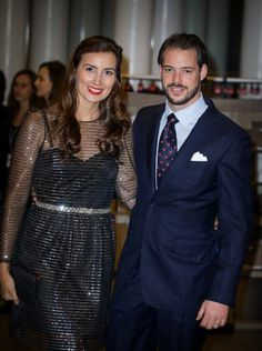 Luxembourg's Prince Felix and Princess Claire attend the 95th birthday celebration of former Grand Duke Jean of Luxembourg, 9 January 2016