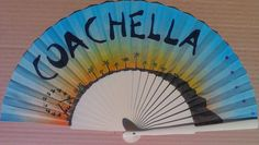 Ltd Edition COACHELLA 2014 Hand Fan Design by Kate Dengra