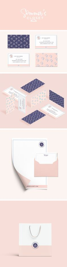Branding Identity Design: Sommer's Closet. graphic design, branding, logo design, feminine design, web design, blog design, fashion brand, clothing branding, #graphicdesign, #designinspiration, #branding, #logodesign #brandingidentity #fashionbranding
