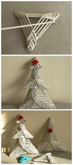 Fotopostup na vianočný stromček, papierové pletenie, paplet, vianoce, diy, handmade. Artmama.sk